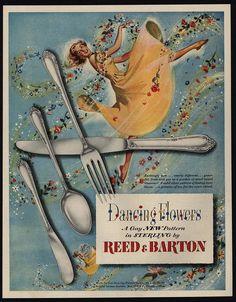 1950 REED & BARTON Dancing Flowers - Gay New Silverware Pattern - VINTAGE AD | Collectibles, Advertising, Merchandise & Memorabilia | eBay!