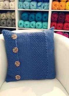 O Blog da DMC: Tutorial almofada em tricô com MyBoshi
