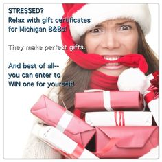 A gift certificate for a Michigan B makes the perfect gift for someone on your list---or for yourself!  And you can register this weekend to WIN one.