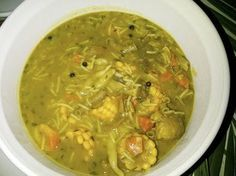 Jamaican Mannish Water Recipe - This is a wonderfully flavored soup. Cho Cho is… Jamaican Soup, Jamaican Cuisine, Jamaican Dishes, Jamaican Recipes, Water Recipes, Soup Recipes, Cooking Recipes, Carribean Food, Kitchens