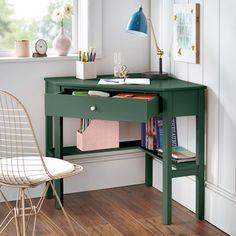 Small Corner Desk, Small Room Desk, Corner Writing Desk, Desks For Small Spaces, Desk For Kids Room, Small Office Desk, Corner Space, Kids Rooms, Office Furniture Stores