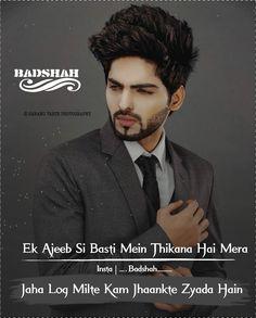 i don't love the quote.bt him. Hindi Words, Hindi Quotes, Qoutes, Attitude Quotes For Boys, Attitude Status, Swag Boys, Boys Wallpaper, Boy Quotes, Wedding Quotes