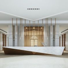 Get the best luxurious decor ideas for your new hotel lobby and reception interi. - Get the best luxurious decor ideas for your new hotel lobby and reception interior design project. Corporate Office Design, Modern Office Design, Office Interior Design, Hotel Lobby Design, Modern Hotel Lobby, Reception Desk Design, Hotel Reception, Reception Counter, Wedding Reception