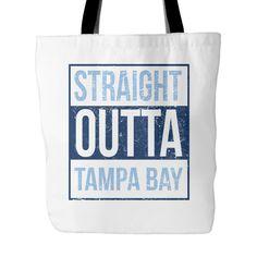 "Straight Outta Tampa Bay Baseball Tote Bag, 18"" x 18"""