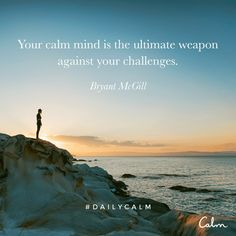 """I am substituting the word """"tool"""" for the word """"weapon"""". I have my reasons for this substitution. I believe that a calm mind is a useful tool in many situations/challenges. Benefits Of Mindfulness, Mindfulness Meditation, Guided Meditation, Faith Quotes, Life Quotes, Qoutes, Stoicism Quotes, Daily Calm, Wheel Of Life"""