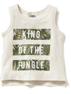 Jungle Graphic Tank for Baby