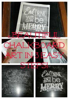 Holy Craft: Easy chalkboard typography art tutorial