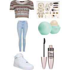 Untitled #3 by jordya2002 on Polyvore featuring polyvore, fashion, style, Boohoo, Topshop, NIKE, Maybelline and Eos