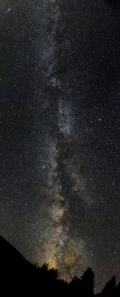 The Milky Way. This is actually what you can see in the mountains in Idaho.
