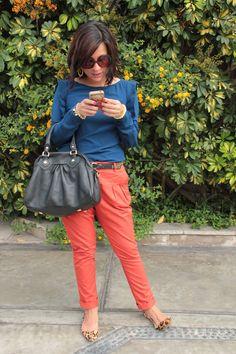 el diario de Pink Chick: Leopard & Orange
