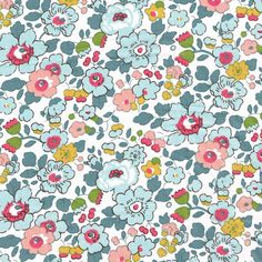 Pretty vintage style floral print: Betsy from Liberty of London in this lovely pale blue and apricot colourway.Size:Fat Quarter: 45cm x 67cm,By the metre: 137cm wide100% Cotton Tana LawnFat Qua…