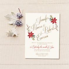 affordable christmas mistletoe winter wedding invitations EWI361 as low as $0.94
