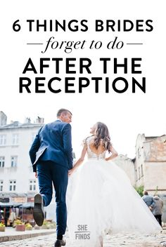 6 Things Brides Forget To Do After The Reception
