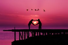 Beach Life: Pink Summer Love Sunset