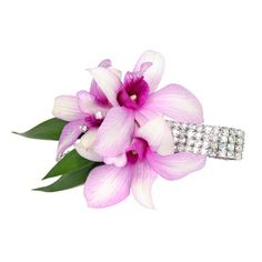 #10COR412 Dazzle Wrist Corsage Viviano Flower Shop  orchids, rhinestone sprays on  sparkling bracelet prom homecoming