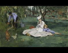 The Monet Family in Their Garden at Argenteuil, 1874. Edouard Manet (French, 1832–1883). Oil on canvas; 61 x 99.7 cm. Lent by the Metropolitan Museum of Art, Bequest of Joan Whitney Payson, 1975, 1976.201.14. © The Metropolitan Museum of Art. Photo: Art Resource, NY.