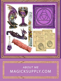 Amethyst Dragon Altar Kit Wiccan Altar Kit Spiritual Craft Supplies Handmade Spell Oils God, Goddess, Altar