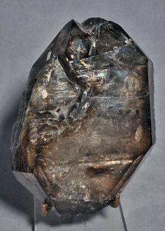 Smoky Quartz Elestial Enhydro Natural Crystal - Brazil Natural Crystals, Stones And Crystals, Quartz Rock, Smoky Quartz, Brazil, Gems, Rustic, Brown, Nature