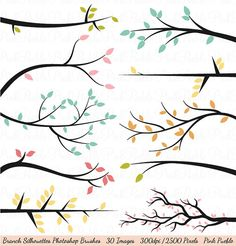 Branch Silhouettes Photoshop Brushes, Tree Branch Photoshop Brush - Commercial and Personal Use on Etsy, $8.00