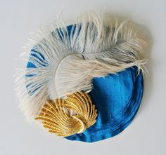 The MAE feather headpiece feather fascinator by jamieslyedesigns