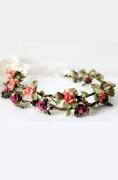 Adorable and dainty bohemian flower crown
