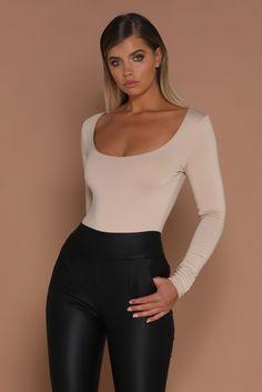 c039b92d9d7a8 Koko Long Sleeve Bodysuit - Nude - MESHKI Meshki Boutique
