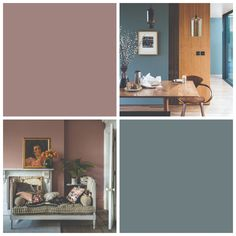 These are Farrow & Ball's must-have colours for 2019 Farrow and Ball Colors 2019 – De Nimes und Sulking Room Pink sind die Must-Have-Farben von F & B Farrow Ball, Farrow And Ball Paint, Living Room Colors, Bedroom Colors, Living Room Designs, Bedroom Decor, Blue And Pink Living Room, Farrow And Ball Living Room, Wall Colors