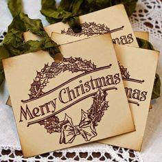 Vintage Christmas tags
