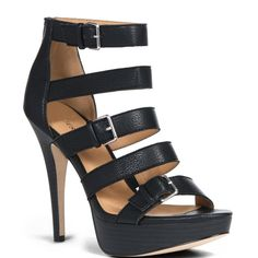 JustFab Cordoba Black Shoes for Women