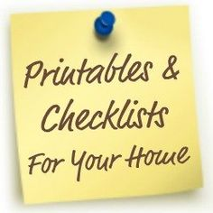 TONS of printables and checklists for your home