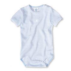 Sanetta kurzarm Body aus Bio-Baumwolle in Blau - Online kaufen bei Babylotta