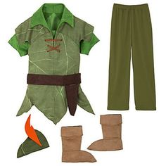 Disney Peter Pan Costume Authentic S 56 Small ** For more information, visit image link.