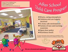 free child care flyer templates