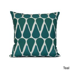 E by Design Watermelon Seeds Geometric Print Pillow