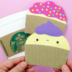 Diy greeting cards from coffee sleeves recycled crafts diy diy recycled greeting cards made out of coffee sleeves i have 3 designs starbucks m4hsunfo