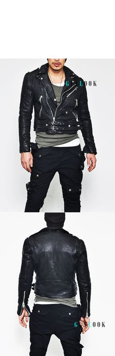 Tough Edge Badass Belted Deerskin Biker-Leather 48 - GUYLOOK