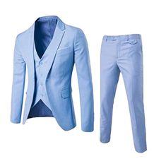 Suits Men 2019 Brand Mens Suits Wedding Groom Plus Size Blazer 3 Pieces(Jacket+Vest+Pant) Slim Fit Casual Tuxedo Suit Male Business Fashion, Business Casual Men, Business Formal, Business Suits, Terno Casual, Terno Slim, Mens Casual Suits, Casual Menswear, Blazer Vest