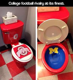 College football rivalry at its finest.