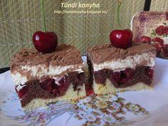 Tündi konyha: Krémes cseresznyés sütemény Nutella, Tiramisu, Muffin, Food And Drink, Pudding, Cake, Ethnic Recipes, Kitchen, Cooking Recipes