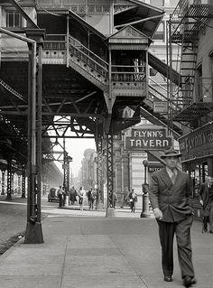 ~~September 1942. New York. Third Avenue elevated railway at 18th Street.~~