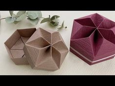Box Origami, Origami Box Tutorial, Gift Wrapping Tutorial, Origami Gifts, Origami And Kirigami, Origami Paper Art, Gift Wrapping Paper, Gift Wrapping Techniques, Easy Paper Crafts