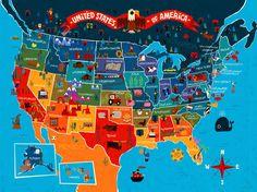 America the Beautiful Wall Mural
