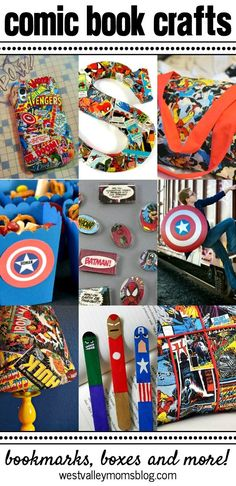 Fun Comic Book Crafts | http://westvalleymomsblog.com