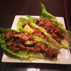 Healthy taco! Make sure to use romain lettuce so it stays crunchy and delicious. You can also add a bit of cheese on top If you want. No carbs meal and same great taste...try it l!