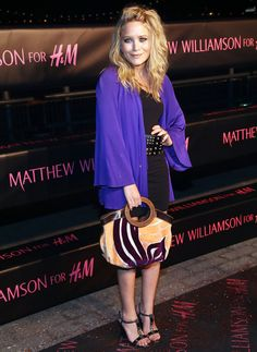 Mary-Kate Olsen Printed Shoulder Bag - Always one to add an unexpected factor into the mix, Mary Kate carried this Mui Mui printed shoulder bag which really stood out on the red carpet.