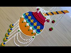 Easy Rangoli Designs Videos, Simple Rangoli Border Designs, Easy Rangoli Designs Diwali, Indian Rangoli Designs, Rangoli Designs Latest, Rangoli Designs Flower, Rangoli Patterns, Free Hand Rangoli Design, Small Rangoli Design