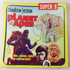 Vintage Film Super 8 Movie Planet of the Apes Black and White Silent Super 8 Film, Movie Reels, 8mm Film, Planet Of The Apes, Home Movies, Music Film, Vintage Music, Horror Films, Pop Culture