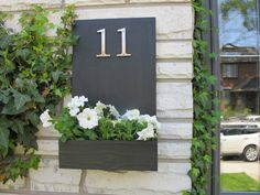 Our friend sunwoven made our modern house number planter for her