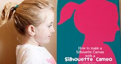 How to make a silhouette canvas by Kristen Duke