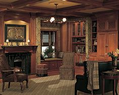 Devonshire by Medallion Cabinetry - lots of decorative details & a window seat